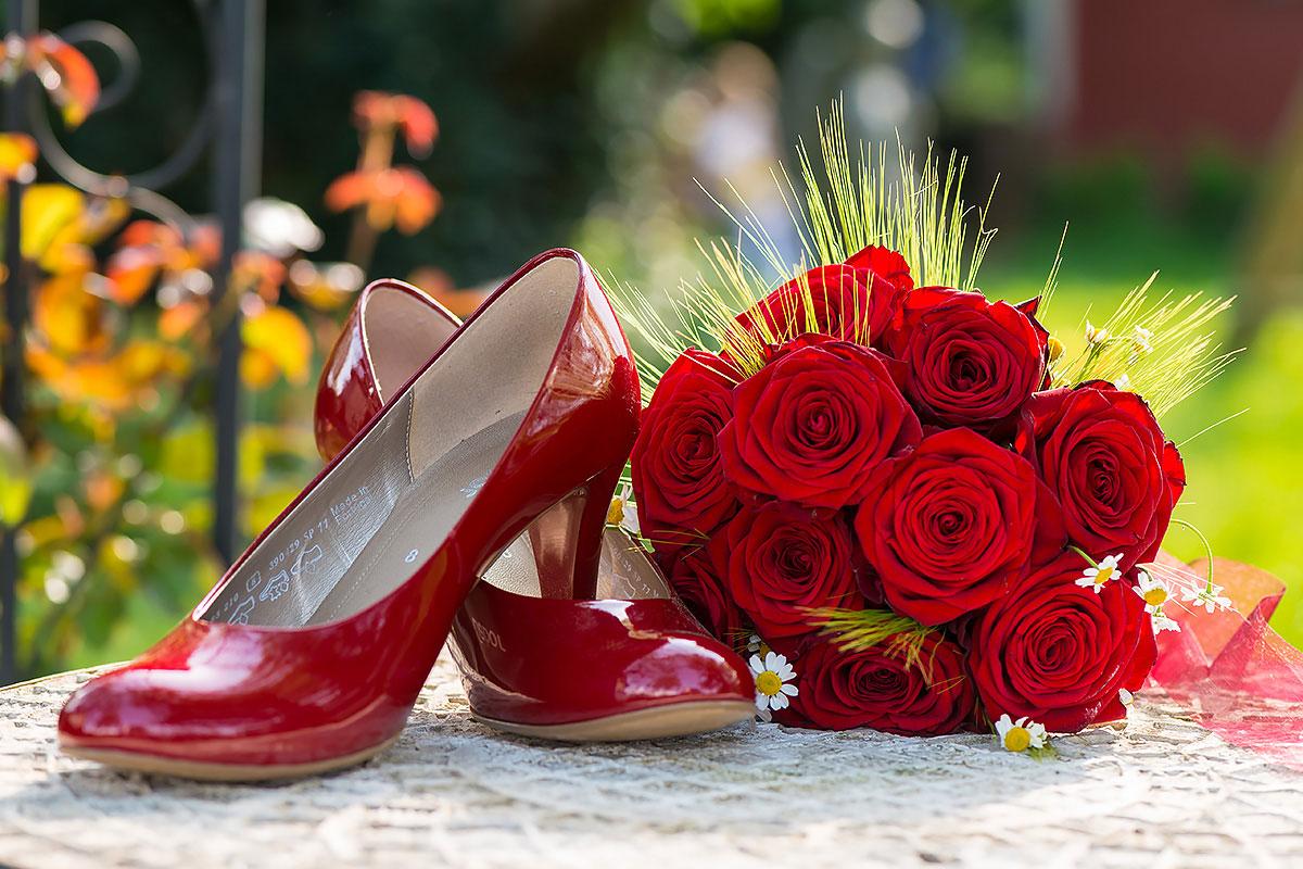 Hochzeitsfoto - Rote Schuhe