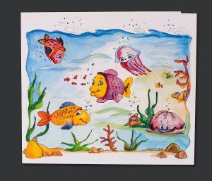 Schulfotomappe Fische - Deckblatt