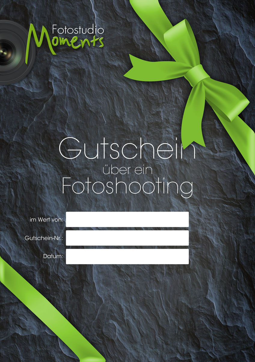 Bild von Geschenkgutschein für ein Fotoshooting